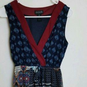 Enfocus Studio Womens 4 Maxi Dress Sheer w/Liner
